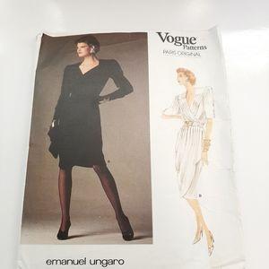 VTG EMANUEL UNGARO VOGUE DRESS PATTERN # 1799